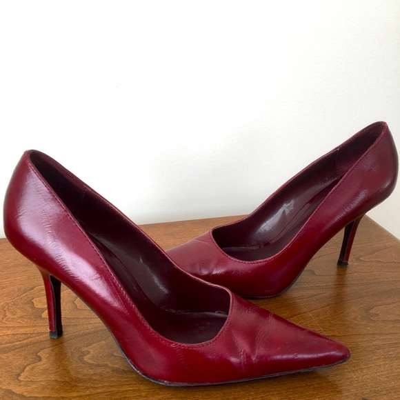 Women's red shoes.